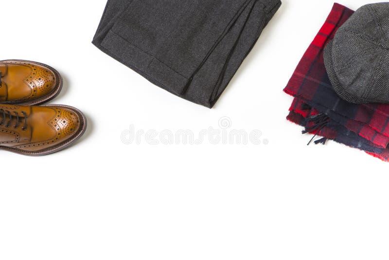 Conceptos de la moda Los pares de Tan Brogue Boots de lujo, forman viejo S imagen de archivo