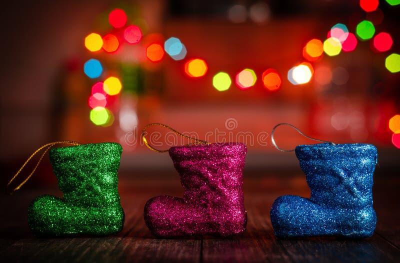 Conceptos de Navidad y de la Feliz Año Nuevo fotos de archivo