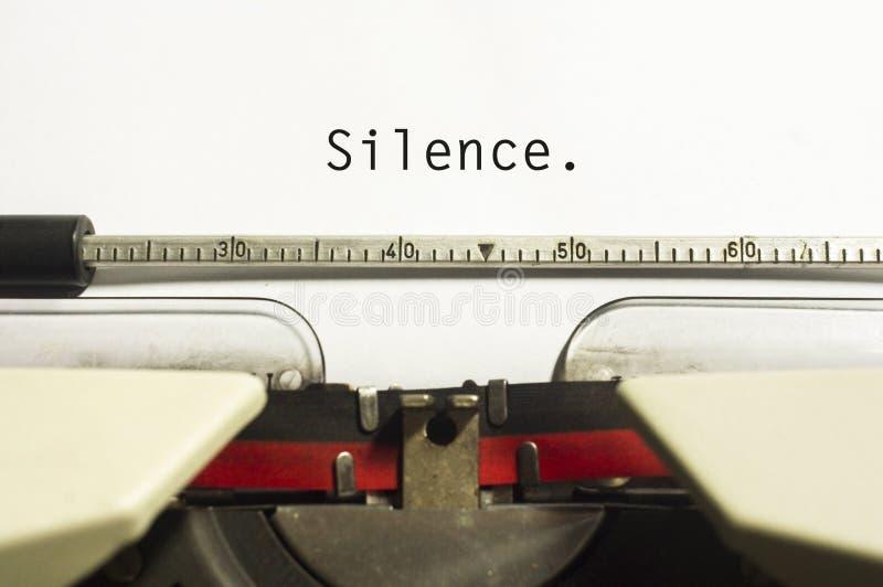 Conceptos del silencio fotografía de archivo