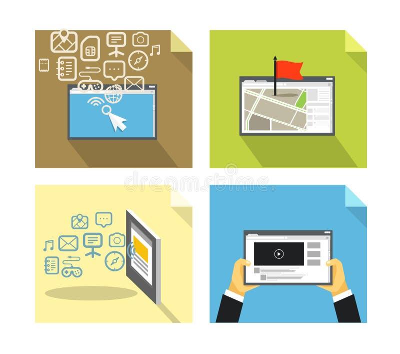 Conceptos modernos de la tecnología libre illustration