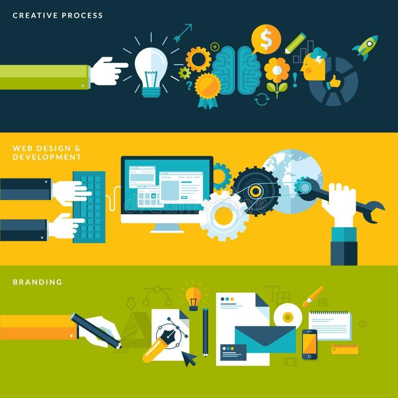 Conceptos para las banderas del web y los materiales impresos libre illustration