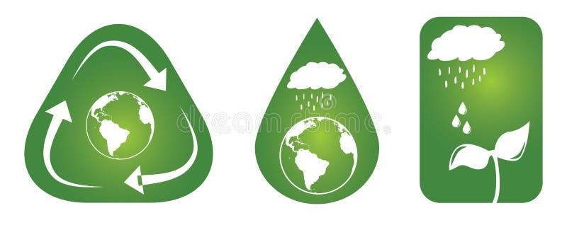 Conceptos sostenibles ilustración del vector