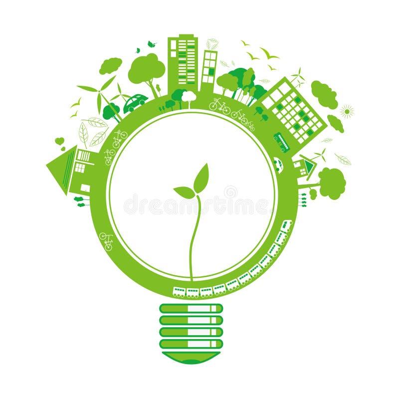 Concepts d'écologie illustration libre de droits