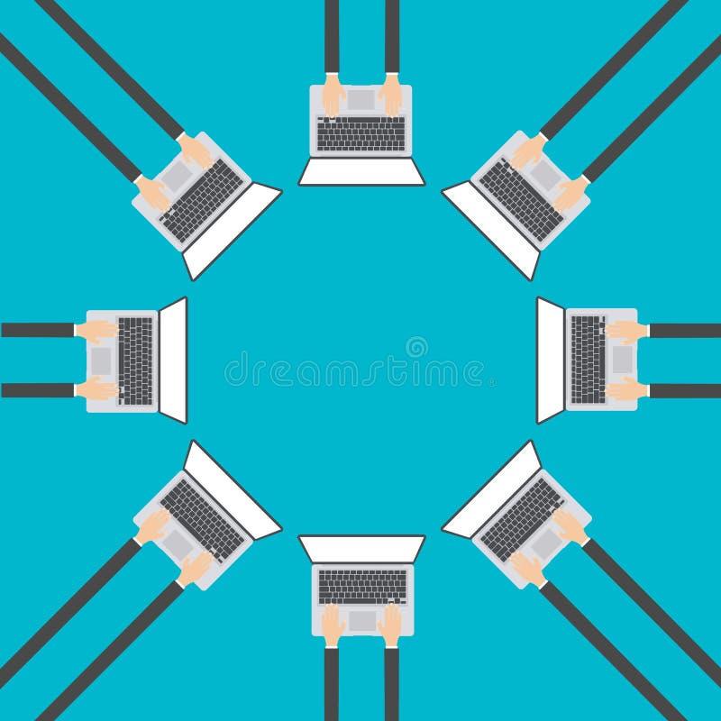 Concepts d'affaires dans la conception plate pour le Web, commerce électronique, vecteur illustration stock
