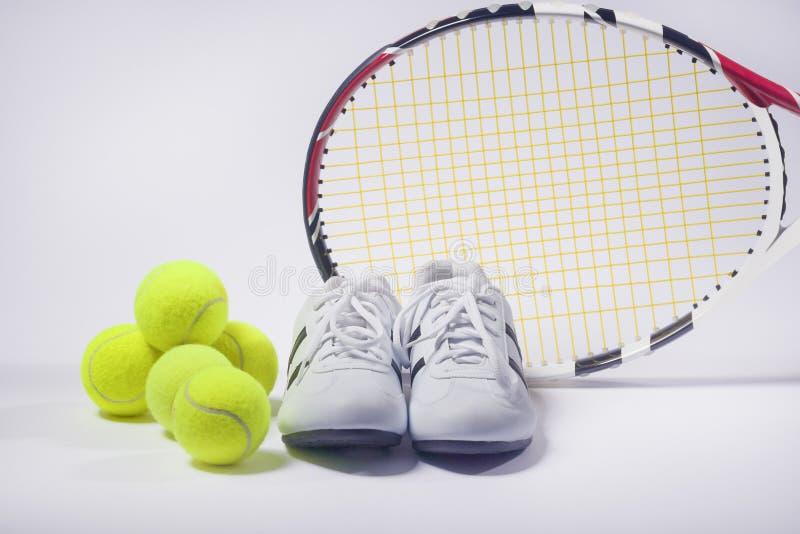 Concepts d'images de sports : Tennis Raquet, balles de tennis et entraîneurs photos libres de droits