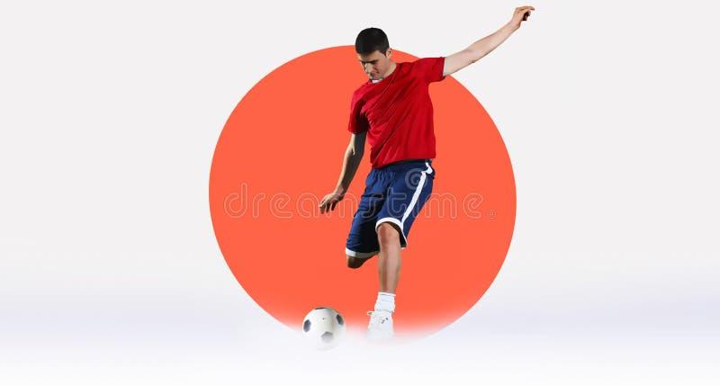 Concepts du football photo stock