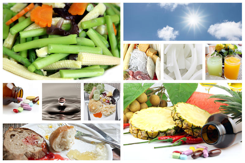 Concepts of food for good health. stock photos