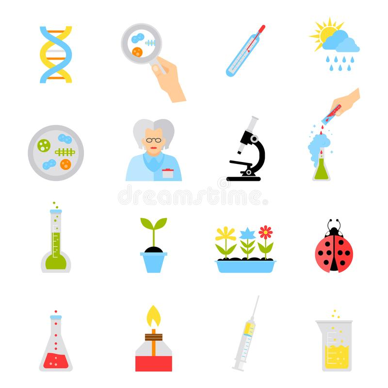 Concepts plats d'illustration de vecteur de conception d'éducation et de science illustration libre de droits