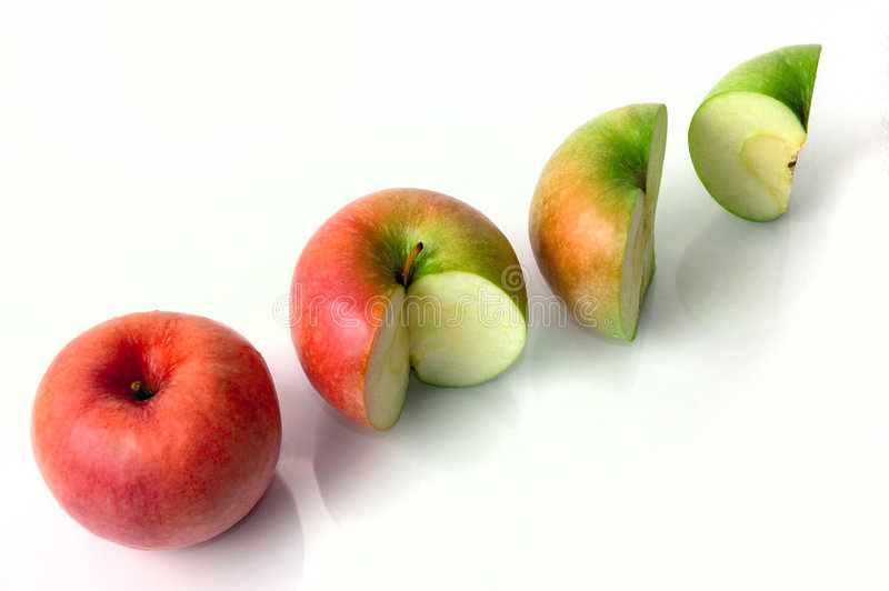 Conceptual apples stock photography