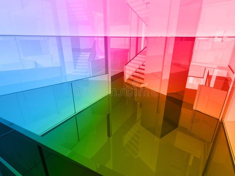 Conceptual architecture. Open space of colors