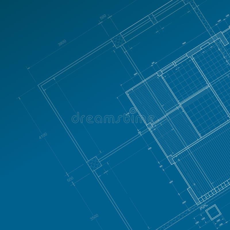 Conceptual blueprint stock photography