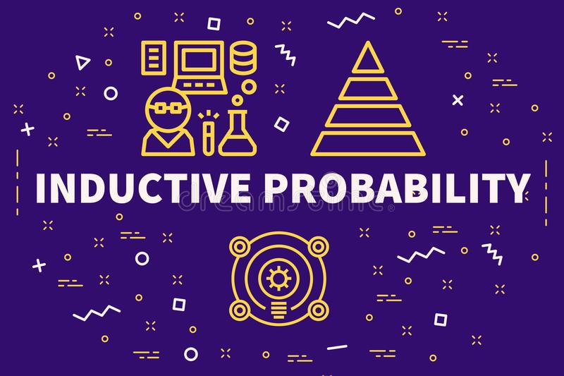 Conceptual business illustration with the words inductive probability vector illustration