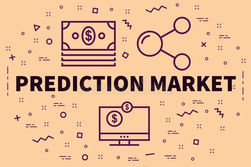 Conceptual Business Illustration With The Words Prediction Market Stock  Illustration - Illustration of prediction, markets: 111905438