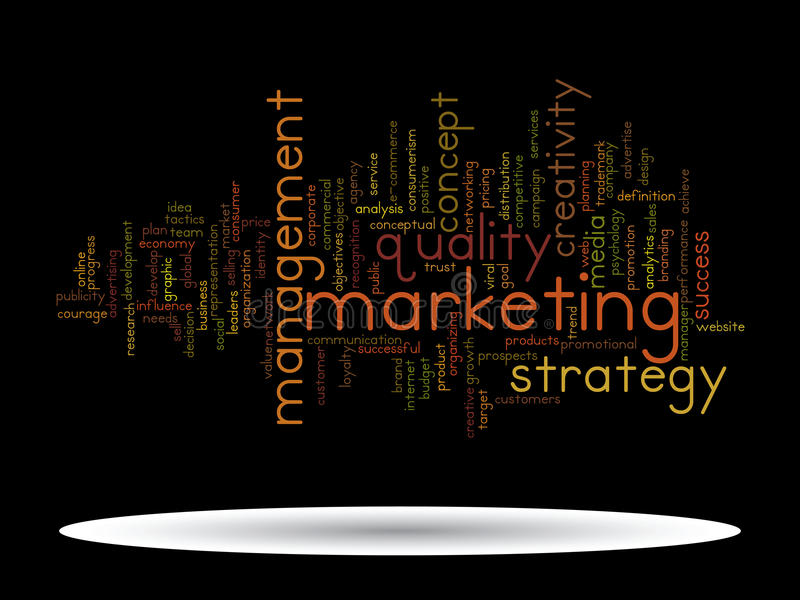Conceptual business marketing word cloud stock photo