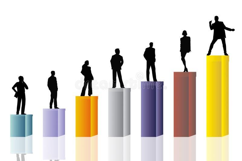 Conceptual business scene vector illustration