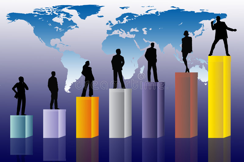 Conceptual business scene stock illustration