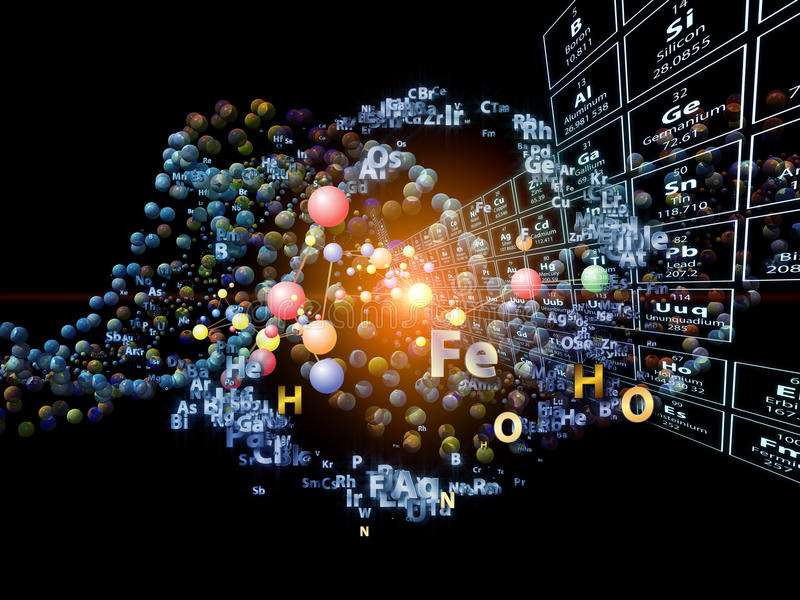 Conceptual Chemical Elements Stock Photos