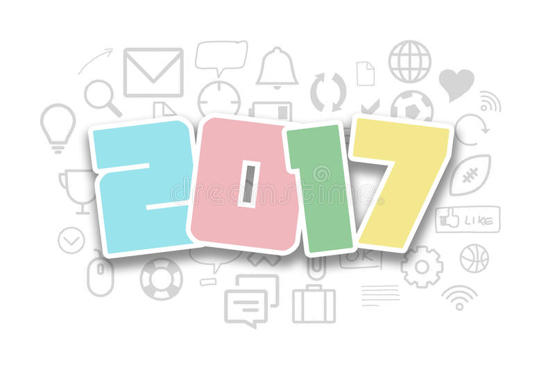 2017 conceptual creative activities todo plan drawing stock image