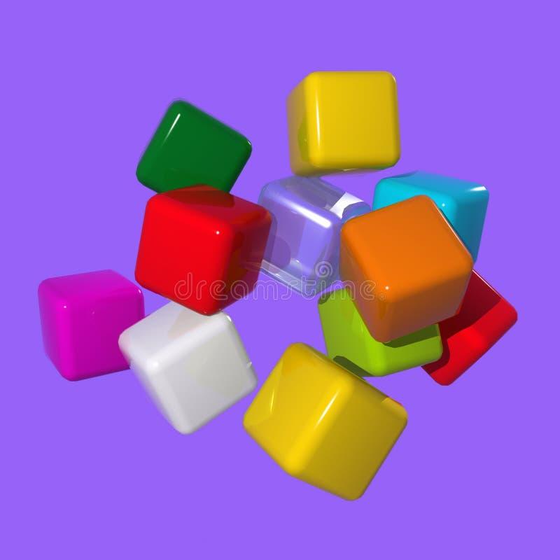 Conceptual Cube stock image