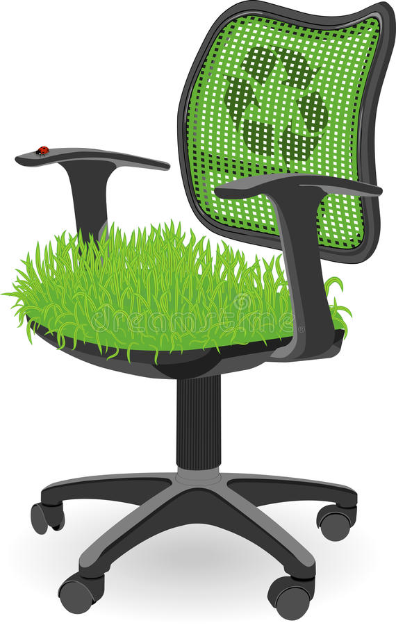 Conceptual ECO place of work   Vector. Eps10 royalty free stock photo