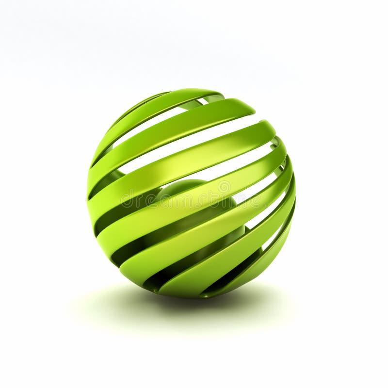 Conceptual eco symbol stock illustration