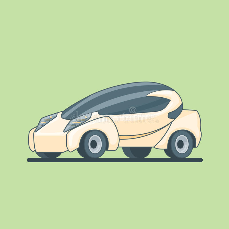 Conceptual Electric Car Design Template vector illustration