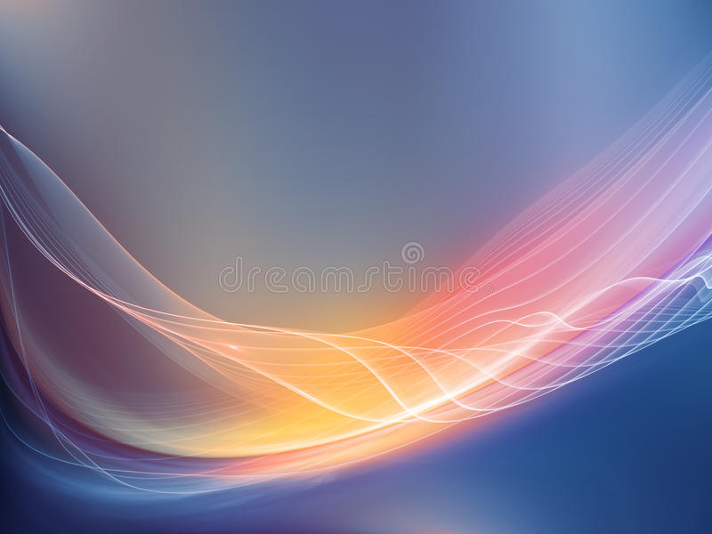 Conceptual Fractal Waves. Fractal Wave series. Artistic abstraction composed of fractal sine waves and color on the subject of design, mathematics and modern royalty free illustration