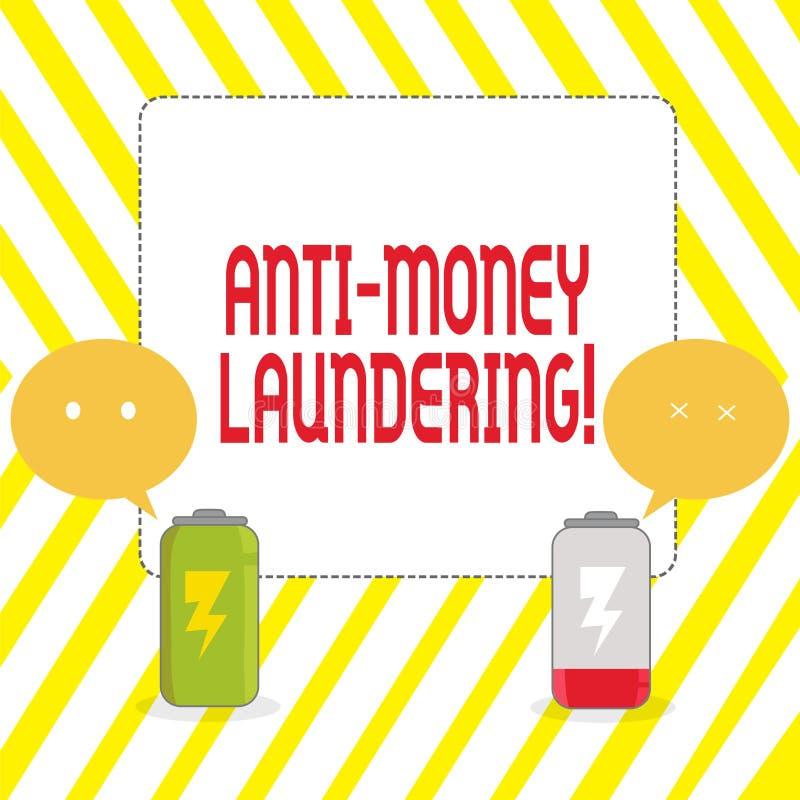 Conceptual hand writing showing Anti Money Laundering. Business photo showcasing regulations stop generating income. Conceptual hand writing showing Anti Money vector illustration