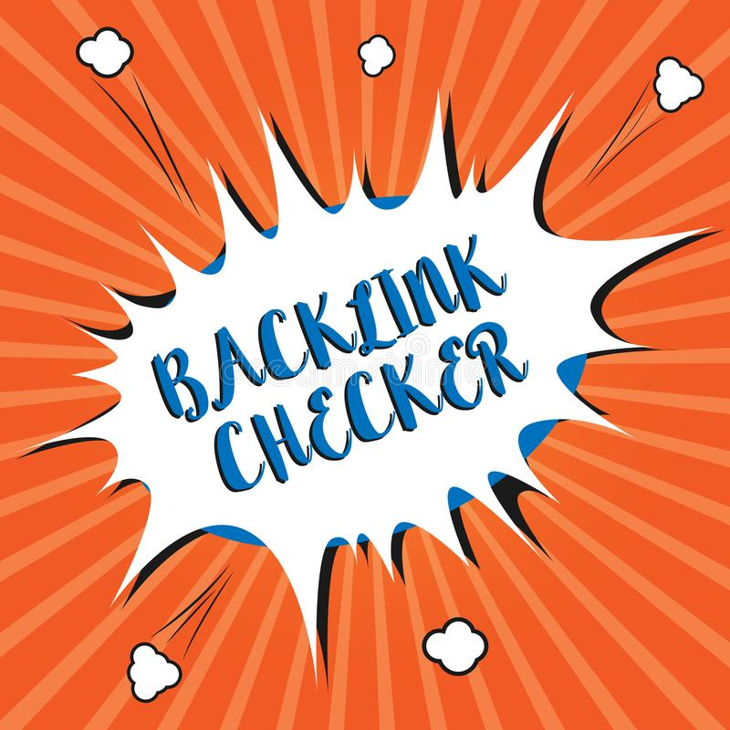 Conceptual hand writing showing Backlink Checker. Business photo showcasing Find your competitors most valuable ones and spot patt vector illustration