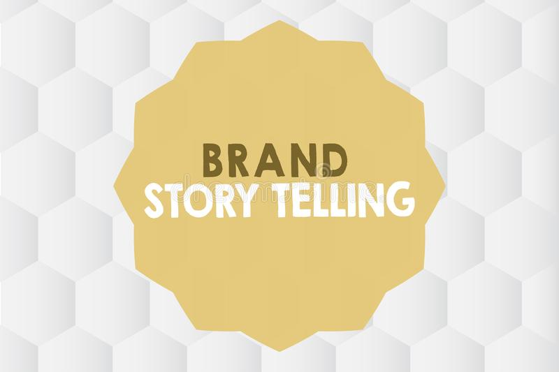 Conceptual hand writing showing Brand Story Telling. Business photo showcasing Breathing Life into a Brandan Engaging. Content vector illustration
