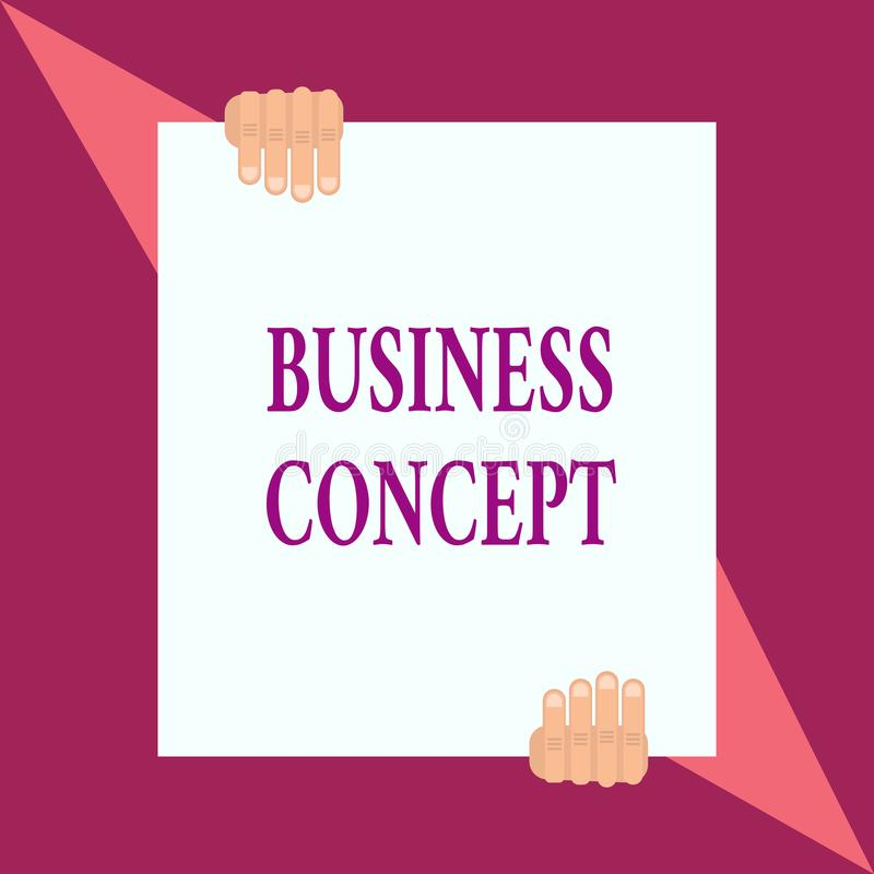 Conceptual hand writing showing Business Concept. Business photo showcasing new product approach to marketing or. Conceptual hand writing showing Business stock illustration