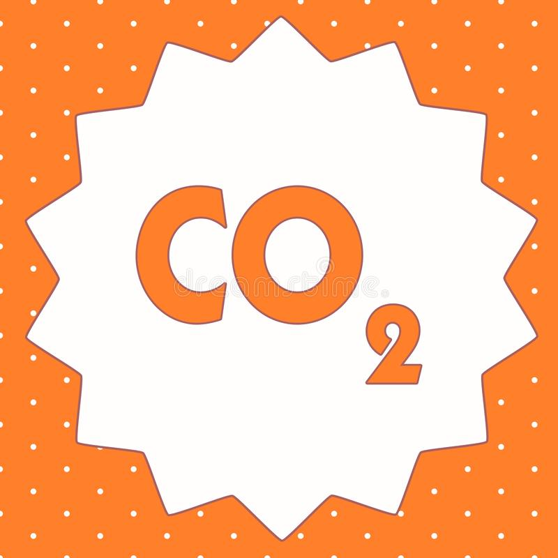 Conceptual hand writing showing Co2. Business photo showcasing Noncombustible greenhouse gas that contributes to global. Warming stock illustration