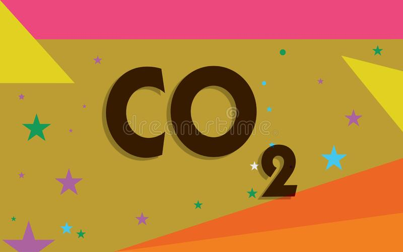 Conceptual hand writing showing Co2. Business photo text Noncombustible greenhouse gas that contributes to global. Warming stock illustration