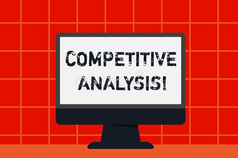 Conceptual hand writing showing Competitive Analysis. Business photo text Strategic technique used to evaluate outside. Conceptual hand writing showing stock illustration