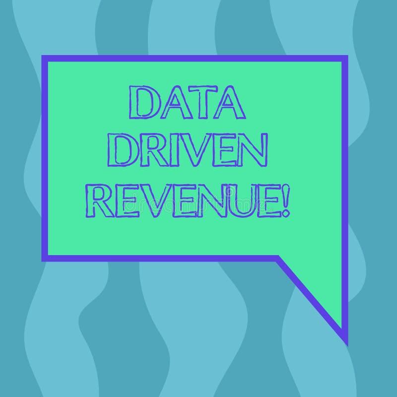 Conceptual hand writing showing Data Driven Revenue. Business photo showcasing makes strategic decisions based analysis. Interpretation Blank Deformed Color stock illustration