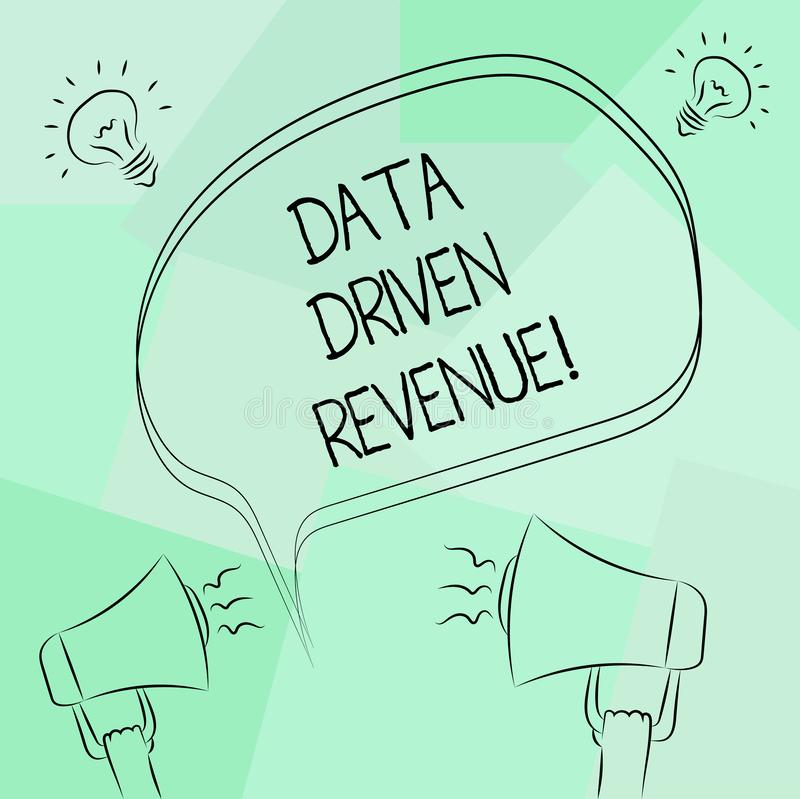 Conceptual hand writing showing Data Driven Revenue. Business photo text makes strategic decisions based analysis. Interpretation Freehand Outline Sketch of vector illustration