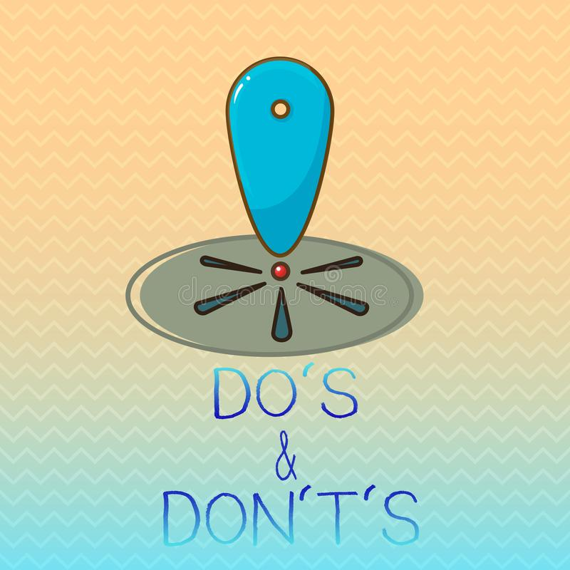 Conceptual hand writing showing Do s is and Don t not s is. Business photo showcasing Confusion in one's mind about something vector illustration
