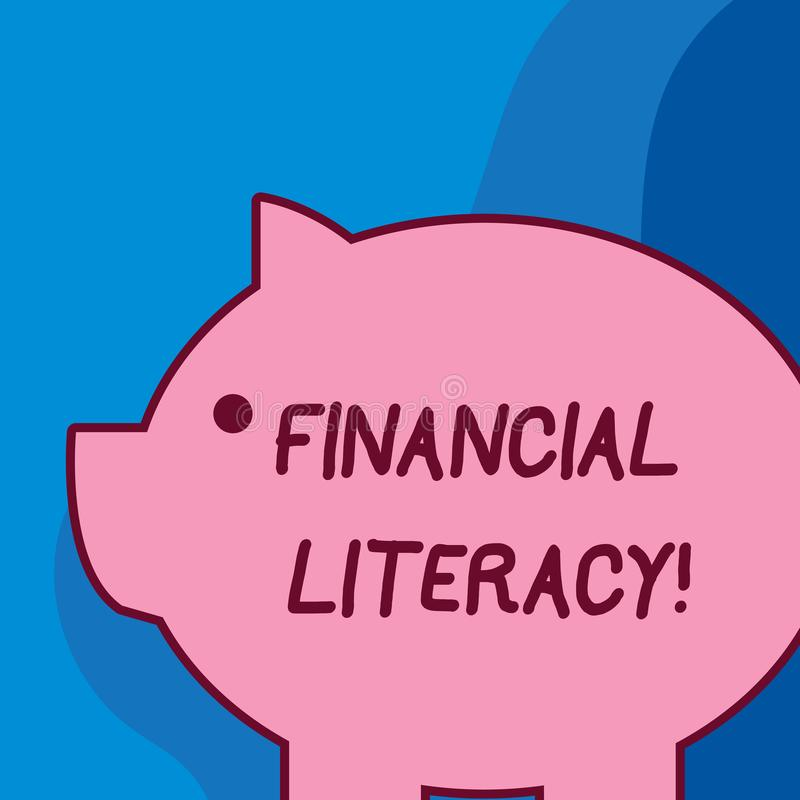 Conceptual hand writing showing Financial Literacy. Business photo text Understand and knowledgeable on how money works royalty free illustration
