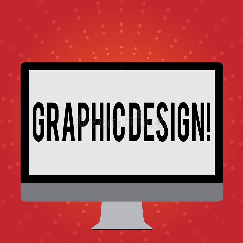 Conceptual hand writing showing Graphic Design. Business photo showcasing Art of combining Text Images in advertising. Conceptual hand writing showing Graphic vector illustration