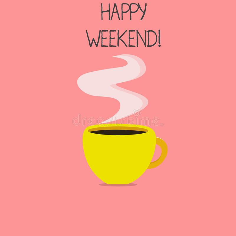 Conceptual hand writing showing Happy Weekend. Business photo text Cheerful rest day Time of no office work Spending holidays.  vector illustration