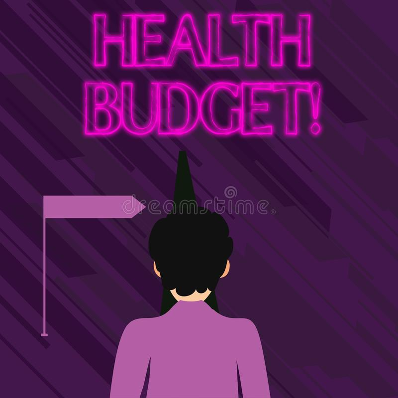 Conceptual hand writing showing Health Budget. Business photo text amount of money to support your health and wellbeing. Conceptual hand writing showing Health vector illustration