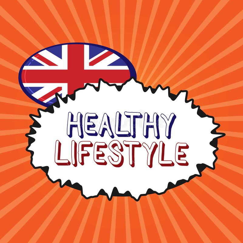 Conceptual hand writing showing Healthy Lifestyle. Business photo showcasing Live Healthy Engage in physical activity and exercise.  vector illustration