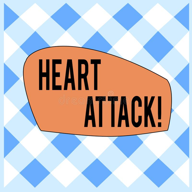Conceptual hand writing showing Heart Attack. Business photo text sudden occurrence of coronary thrombosis resulting in. Conceptual hand writing showing Heart stock illustration