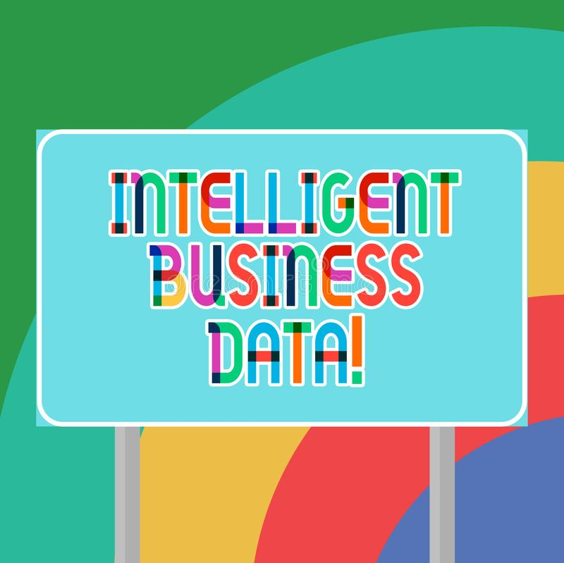Conceptual hand writing showing Intelligent Business Data. Business photo showcasing use of internal data to analyze the. Operations Blank Outdoor Color vector illustration