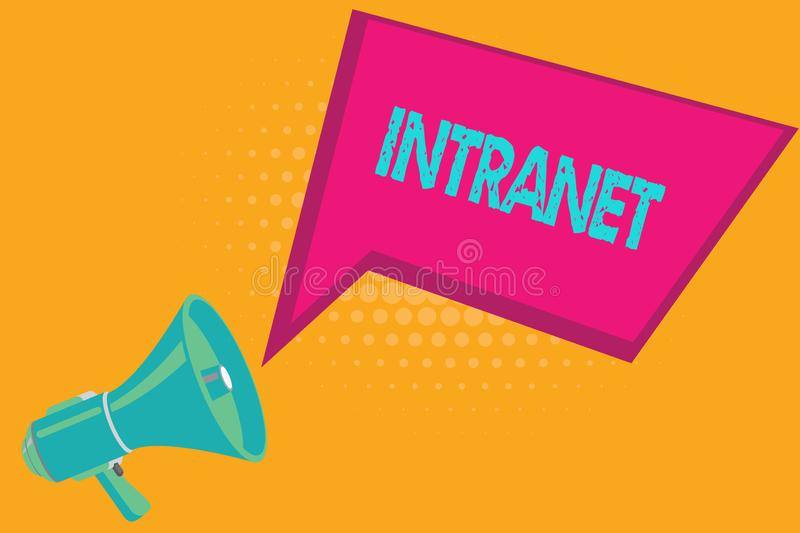 Conceptual hand writing showing Intranet. Business photo text local or restricted communications network especially. Private one royalty free illustration