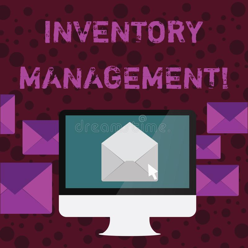 Conceptual hand writing showing Inventory Management. Business photo text supervision of noncapitalized assets and stock. Conceptual hand writing showing royalty free illustration