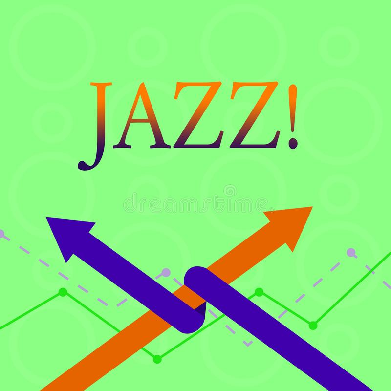 Conceptual hand writing showing Jazz. Business photo text Type of music of black American origin Musical genre Strong. Conceptual hand writing showing Jazz vector illustration
