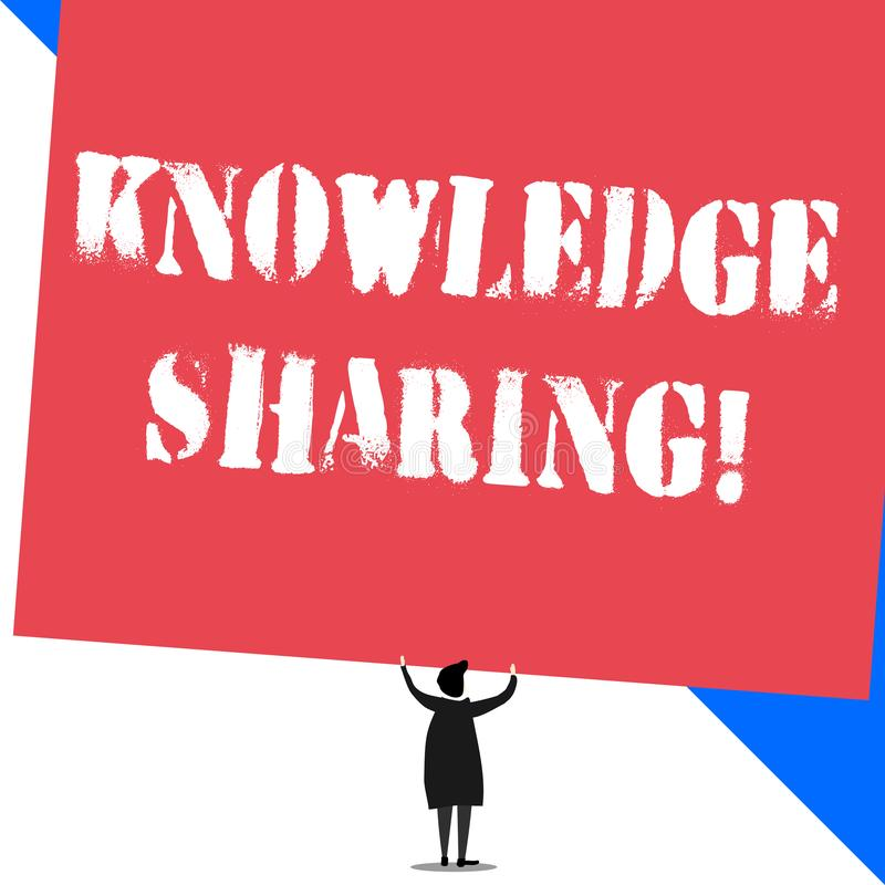 Conceptual hand writing showing Knowledge Sharing. Business photo showcasing deliberate exchange of information that. Conceptual hand writing showing Knowledge royalty free illustration