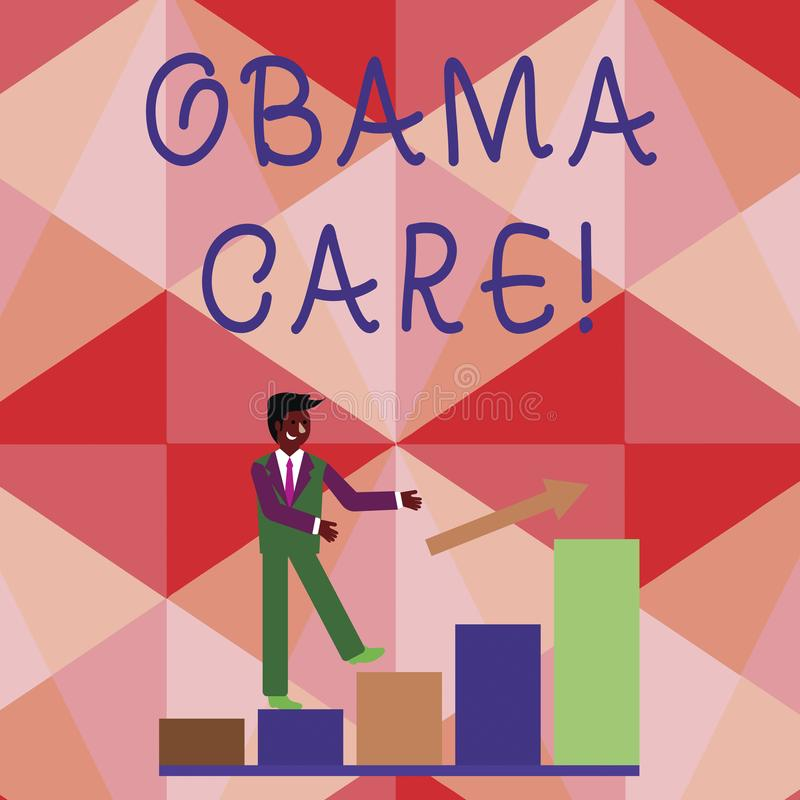 Conceptual hand writing showing Obama Care. Business photo showcasing Government Program of Insurance System Patient. Conceptual hand writing showing Obama Care vector illustration