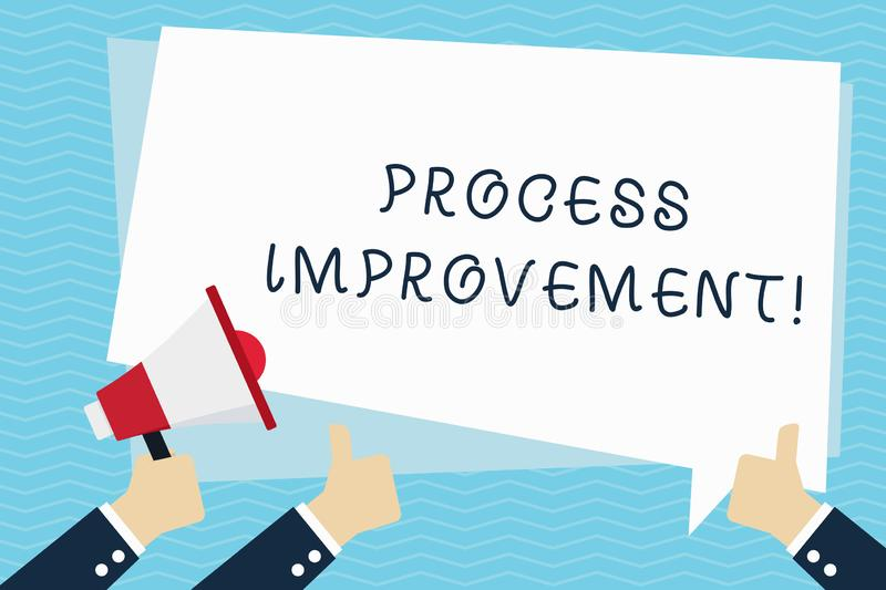 Conceptual hand writing showing Process Improvement. Business photo text ongoing effort to improve products services or. Conceptual hand writing showing Process royalty free illustration